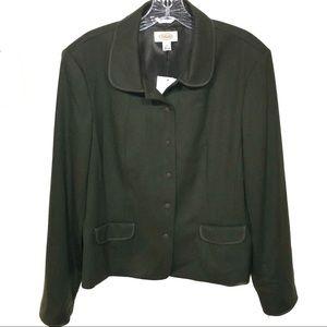 Talbots green wool blend blazer NWT! Size 16